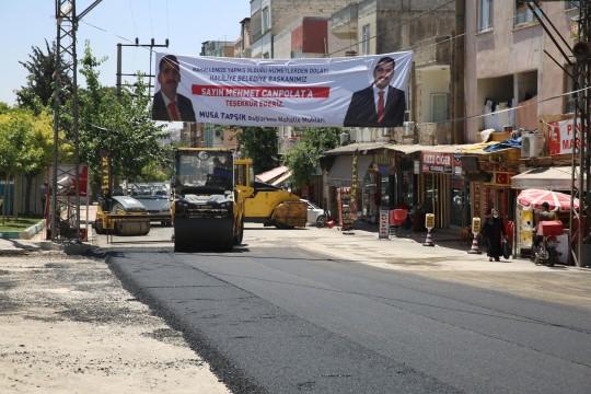 Bağlarbaşı'nda asfaltlama çalışmaları