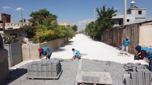 Haliliye belediyesinden 4 mahallede üst yapı çalışması