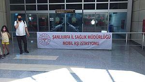Havalimanına mobil aşı istasyonu kuruldu