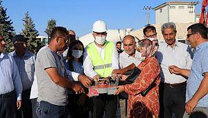 Şanlıurfa'da 200 kişiye istihdam sağlayacak fabrikanın temeli atıldı ( Video Haber )