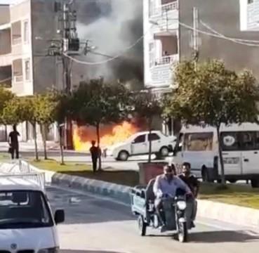 Şanlıurfa'da patlayan elektrik trafosu korku saçtı