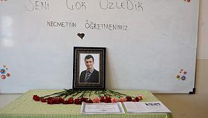 Şehit Necmettin öğretmenin okulunda hüzünlü karne töreni ( Video Haber )