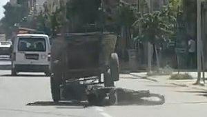Kontrolden çıkan at arabasının altında kaldı ( Video Haber )