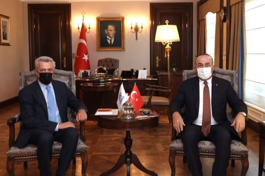 Bakan Çavuşoğlu, BM Mülteciler Yüksek Komiseri Grandi ile görüştü ( Video Haber )