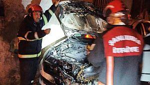 Şanlıurfa'da iki otomobil kundaklandı ( Vİdeo Haber )