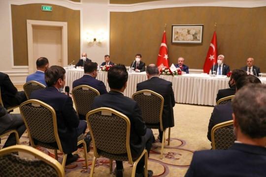 TBMM Başkanı Şentop, Kazakistan'da Türk iş adamları ile bir araya geldi ( Video Haber )