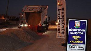 Harran'da asfalt çalışması