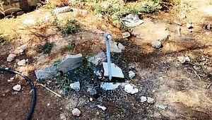 Mezarlığa dadanan hırsızlar tüm muslukları çaldı ( Video Haber )
