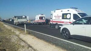 Siverek'te kaza: 1 ölü, 4 yaralı ( Video Haber )