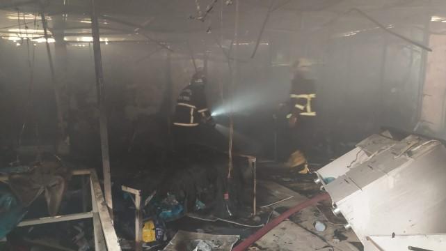 Yangına müdahale eden itfaiye erleri ölümden döndü ( Video Haber )