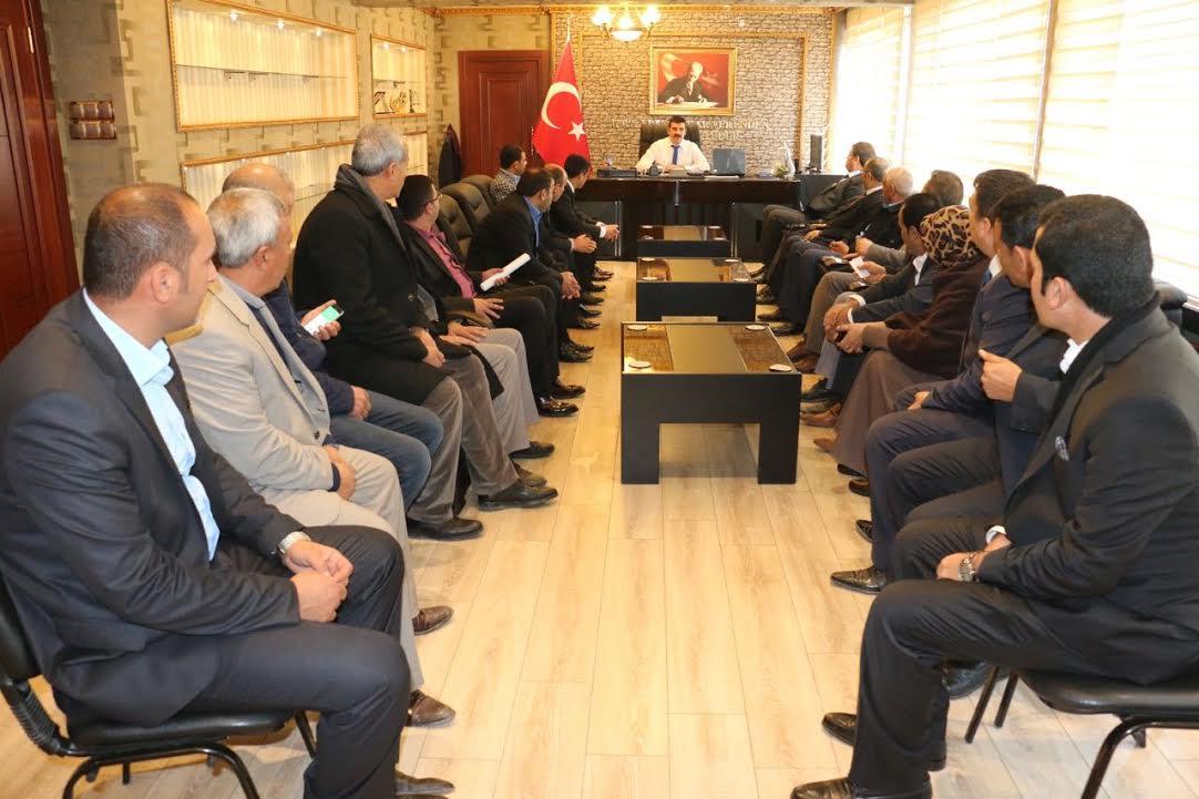 Ayhan ve meclis üyelerinden Kaymakam Yosunkaya'ya ziyaret