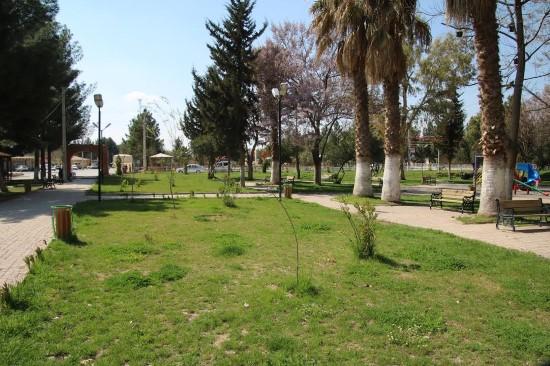 Harran'da Şehit İbrahim Taş parkını bahara hazırladı