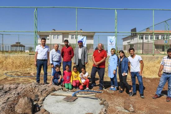 Şehit polis adına okulda su kuyusu yapıldı
