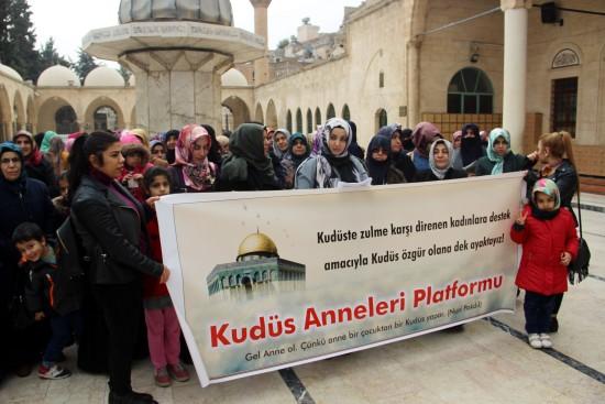Şanlıurfalı kadınlar Kudüs'e sahip çıktı
