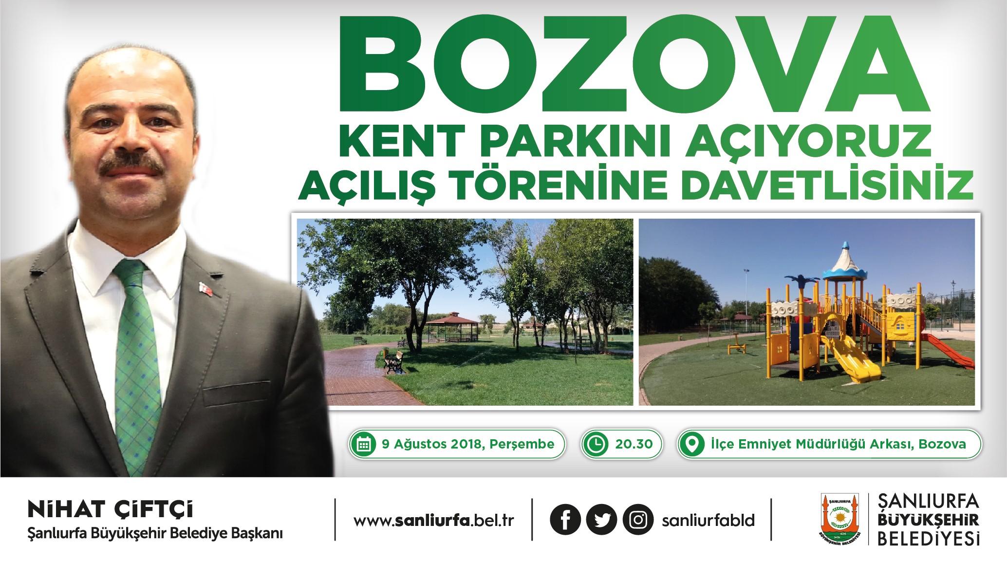 Bozova kent parkı ile semt pazarı hizmete sunuluyor