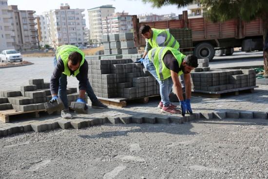 Karaköprü'de yol çalışmaları sürüyor