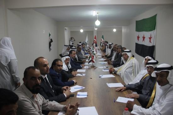 Suriyeli aşiretler iftarda buluştu