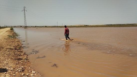 DSİ'ye ait sulama borusu patladı ekili araziler su altında kaldı