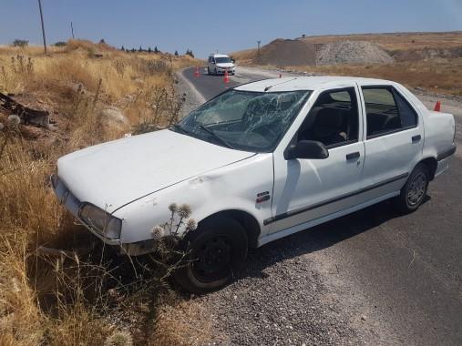 Şanlıurfa'da devrilen otomobilin sürücüsü yaralandı