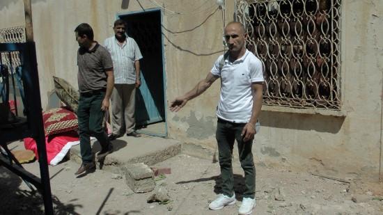 Suriye'den atılan roket Şanlıurfalı aileyi çay içerken yakaladı