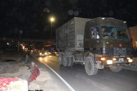 Suriye sınırına mühimmat sevkiyatı