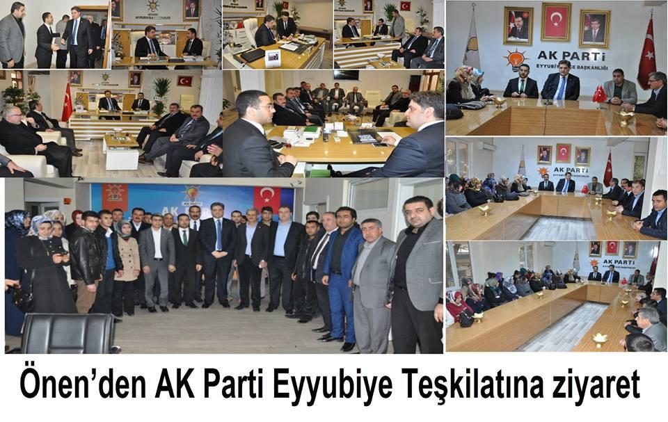 Vekil Önen,Eyyübiye AK Parti teşkilatını ziyaret etti