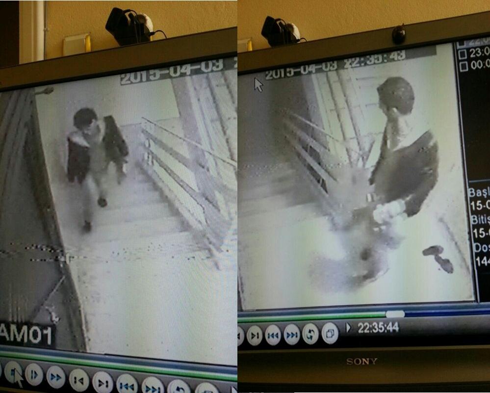 Ayakkabı Hırsızları Kameraya yakalandı