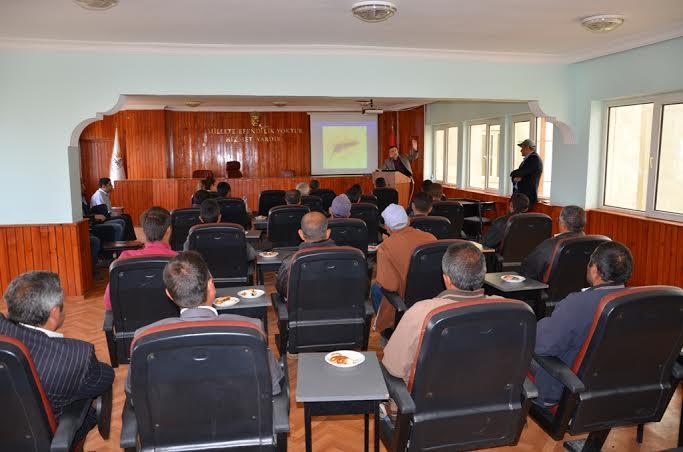 İlaçlama ekiplerine bilgilendirme semineri