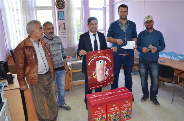Siverek\'te ödüllü atık pil toplama kampanyası