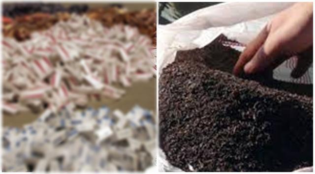 İki ayrı operasyonla 528 bin 851 TL değerinde sigara ve çay ele geçirildi