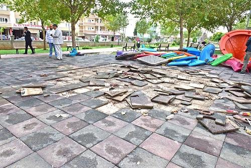 Ceylanpınar'da parklar yenileniyor