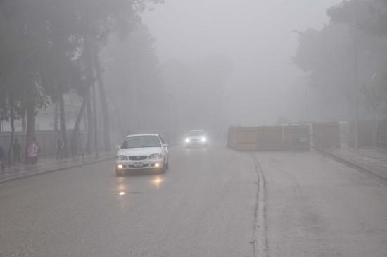 Akçakale'de yoğun sis