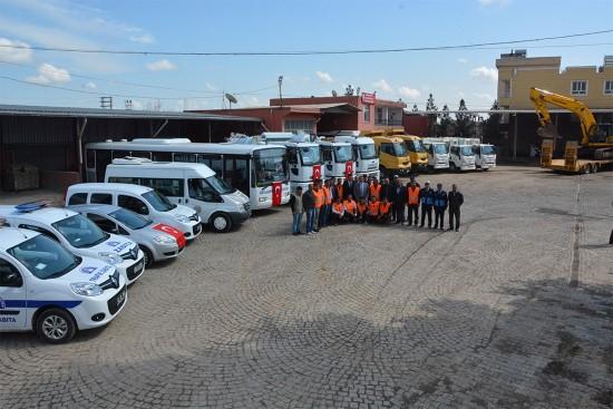 Ceylanpınar Belediyesinin araç filosuna 43 yeni araç eklendi