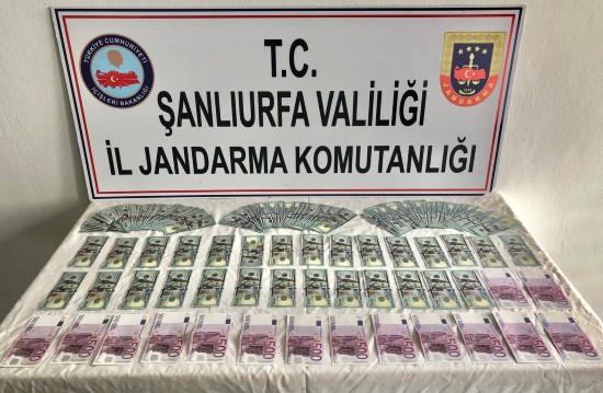 Sahte euro ve dolarlarla yakalandı