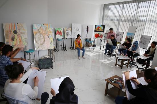 Haliliye'de gençler için resim kursu açıldı