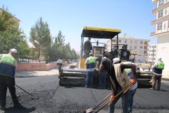 Şanlıurfa'da yol asfaltlama çalışmaları sürüyor
