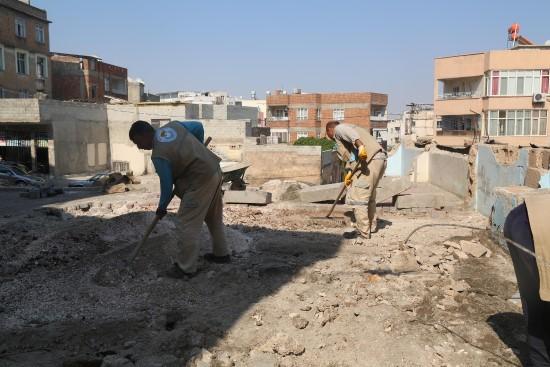 Haliliye'de park yapımında sona gelindi