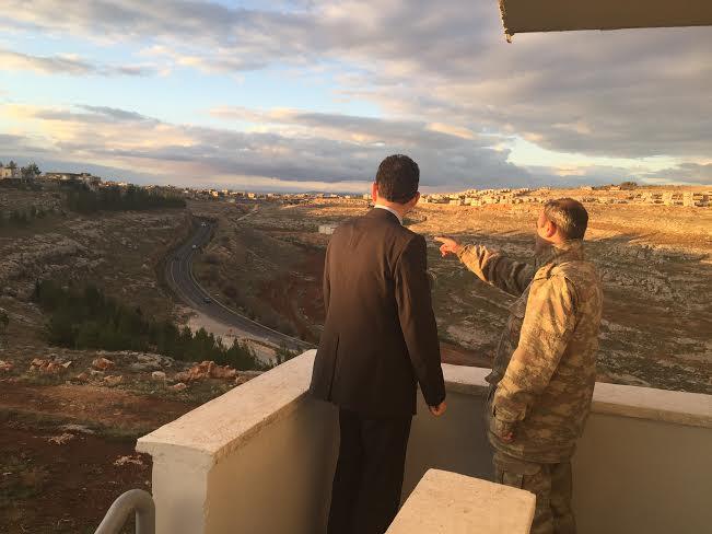 Kaymakam Köksal Yeni jandarma komutanlığını ziyaret etti