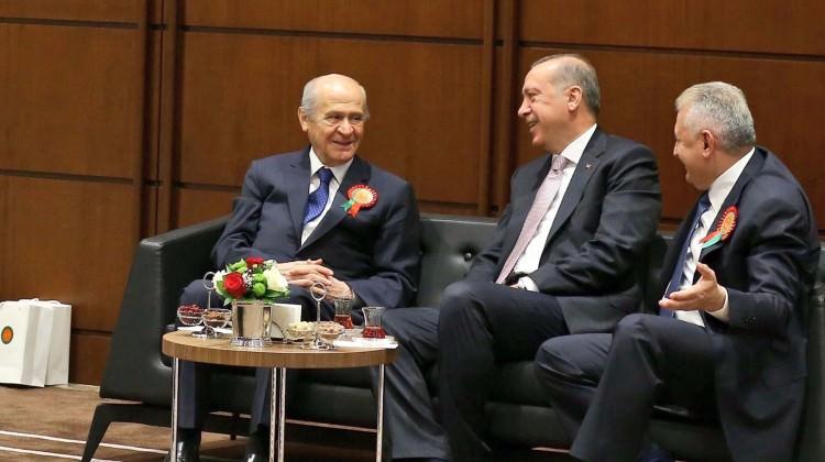Erdoğan, Yıldırım ve Bahçeli Beştepe buluştu
