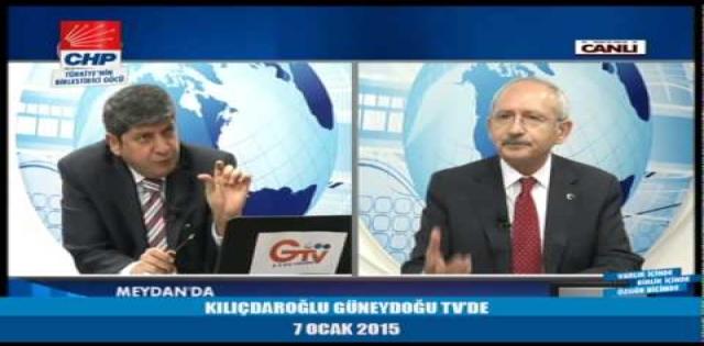 Kemal Kılıçdaroğlu GTV'de Urfa'nın sorunlarını anlattı